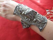 Large Antique Victorian Silver Bangle Bracelet