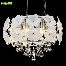 EU style crystal LED ceiling lamp and chandelier Dual purpose E14 pendant light
