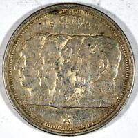 BELGICA 100 francos PLATA 1949 REYES BELGAS KM#139.1 leyenda en alemán BELGIË