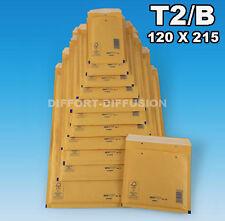 LOT : 200 enveloppes à bulles / enveloppe bulle  Marron 140 x 225 mm T2 / 2 (B)