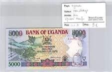 BILLET OUGANDA - 5000 SHILLINGS 2002 - QUASI NEUF !