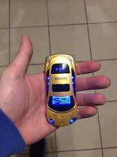 Mini Car Shaped Mobile Spy Flip Phone with FM Radio MP3 Camera Dual Sim UK