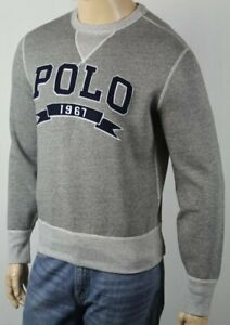 Polo Ralph Lauren Grey Pullover Fleece Athletic Dept Sweatshirt NWT $125