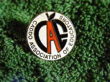 Vintage Caddo Association of Educators Shreveport Louisiana Lapel Pin Pinback