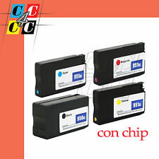 4 Cartucce + CHIP compatibili  HP950 951 XL Officejet Pro 8100 ePrinter