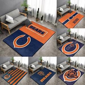Chicago Bears Rugs Fans Anti-Skid Area Rug Living Room Bedroom Floor Mat Carpet