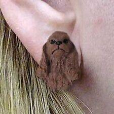 Conversation Concepts Cocker Spaniel Brown Earrings Post
