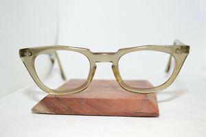 Vintave Bausch + Lomb Safety Eyeglass/Sunglass Frames Horn-rim 48[]22 6 1950s