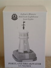 Portland Breakwater Lighthouse Lefton'S American Lost Lights Series Ccm13654