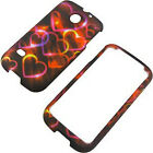 For Huawei Ascend II 2 M865 Rubberized HARD Case Phone Cover Colorful Hearts