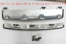 Front + Rear Bumper Protector Skid Plate for Honda CRV 2012-2014 Touring Sport