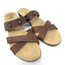 SBICCA brown slide sandals | women's size 8.5