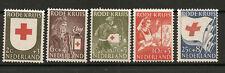 """NETHERLANDS 1953 #607-611 mnh """"RED CROSS"""" D205"""