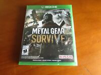Metal Gear Survive (Microsoft Xbox One, 2018) New Factory Sealed