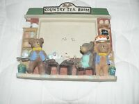 Country Tea Room Teddy Bears - Photo Picture Frame - 3D Resin