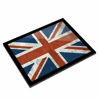 A3 Glass Frame - Distressed Union Jack British Flag Art Gift #16072
