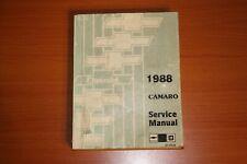 1988 Camaro Service Manual F-Platform St 368-88