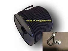 6mm PP ummantelt Expanderseil 10m schwarz - Gummiseil elastisches Seil f Plane