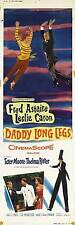 DADDY LONG LEGS Movie POSTER 14x36 Insert C Fred Astaire Leslie Caron Terry