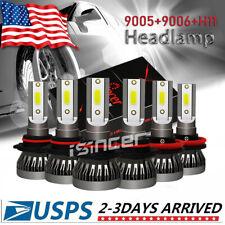 MINI 9005+9006+H11 Combo Car LED Headlight Hi/Low Beam Bulb 6000K Fog Light Sets