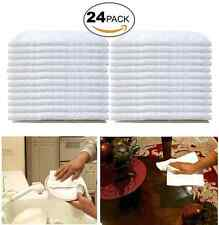 Wash Cloth Towel 24 Pack Commercial Grade Cotton Bathroom Kitchen Cleaning Room