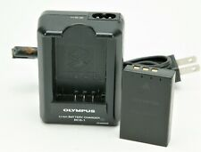 Original Olympus Li-Ion Battery Charger BCS-1 With Good Battery BLS-1.
