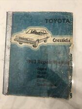 1983 Toyota Cressida Service Shop Repair Workshop Factory Manual Oem 1983