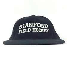 Stanford Field Hockey Etrade Embroidered Logo Black Baseball Cap Hat Sm-Med Size