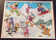 DISNEY Fantasyland Chunky Jigsaw Puzzle Waddingtons Vintage Mickey  Donald Goofy