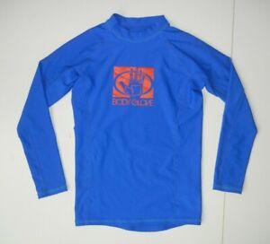 BODY GLOVE Blue/Red RASH GUARD Surf Beach Spandex Sun Shirt Kid Sz YOUTH S 8