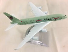 Airbus A380 Qatar Airways Airlines 16cm Metal Model Plane Aeroplane Toys Stand