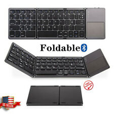 Bluetooth3.0 Keyboard Foldable with Touchpad Wireless for Android iOS Windows PC