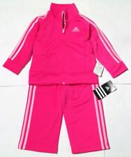 NWT Adidas Girl's Performance 18mo Pink Training Suit #AG4882
