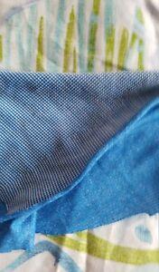 Polartec power wool BLUE grid fabric 8 yards