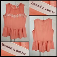 Bread N Butter Women Career Formal Sleeveless Blouse Top Size Small S