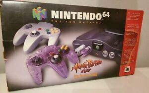 N64 new Nintendo Atomic purple controller never been played all original packagi