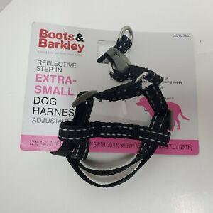 Core Reflective Dog Harness - Black - XSmall - Boots & Barkley NEW adjustable