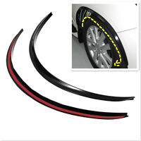 2x Black Wheel Eyebrow Protector Anti-Scratch Sticker Soft Strip Wheel-arch trim