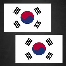 2 Korea Flag Decals Stickers