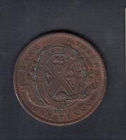 1842 BANK OF MONTREAL CANADA PENNY TOKEN COIN