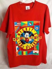 Mickey & Co. One Size Fits All *World Tour 1001 Hellos* Disney Red T-Shirt