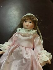 Miniature 4� Porcelain Doll Fully Jointed & Posable, Birthday, Shower, Ornament