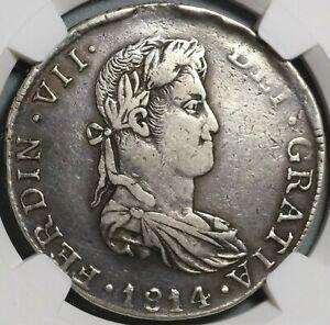 1814-Ga NGC VF 30 Mexico 8 Reales War Independence Guadalajara Coin (21042103C)