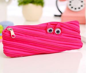 Pink Cute One single Zip Pencil case Zipper Bag Cosmetic holder UK seller