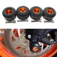 FXCNC Front Rear Fork Wheel Frame Slider Crash Protector KTM DUKE RC 125 200 390