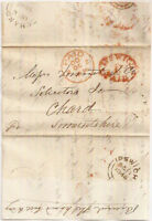 1846 UPP IPSWICH 1d red PAID entire to Chard Somerset via London
