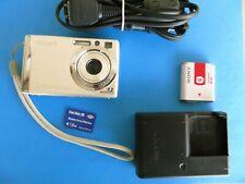 Sony Cyber-shot DSC-W80 7.2MP 3x Optical Zoom Lens Silver Tested NICE! Bundled