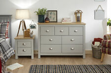 Lancaster Grey & Oak Coloured Occasional Range - Tables Sideboard TV Cabinets Lamp Table