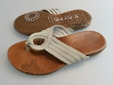 MERRELL Lidia Ivory Leather Flip Flops Sandals Shoes Women's US 6