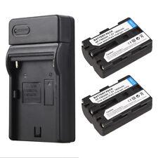 Für Sony NP-FM500H A58 A65 A77 A550 A560 2X NP-FM500H Li-Ion Akkus + Ladegeräte